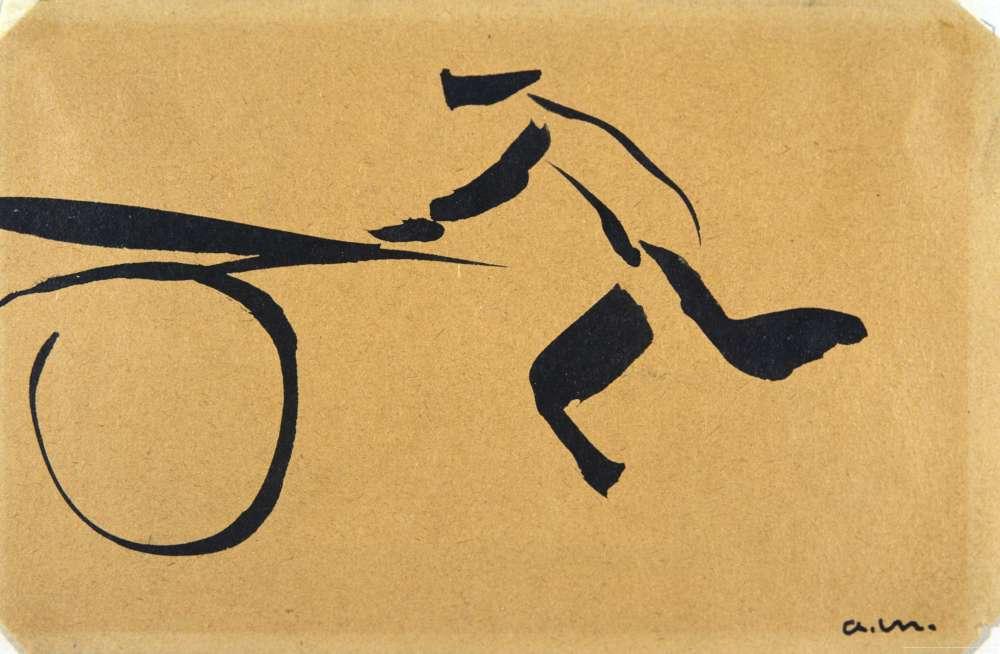 """« """"Notre Hokusai"""", disait Henri Matisse. Plus généralement, Albert Marquet a su réinterpréter le travail du pinceau extrême-oriental pour saisir le mouvement. »"""