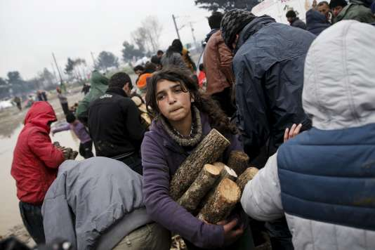 Camp de réfugiés et de migrants près du village de Idomeni, en Grèce, à la frontière avec la Macédoine, le 15 mars 2016.