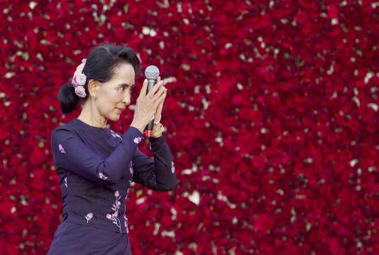 Aung San Suu Kyi, le 1er novembre 2015 à Rangoun.