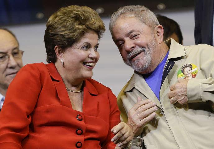 Dilma Rousseff et Luiz Ignacio Lula da Silva.   (AP Photo/Andre Penner, File)