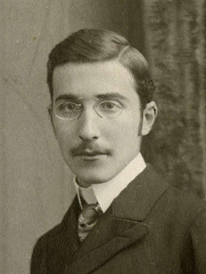 Stefan Zweig, en 1900.
