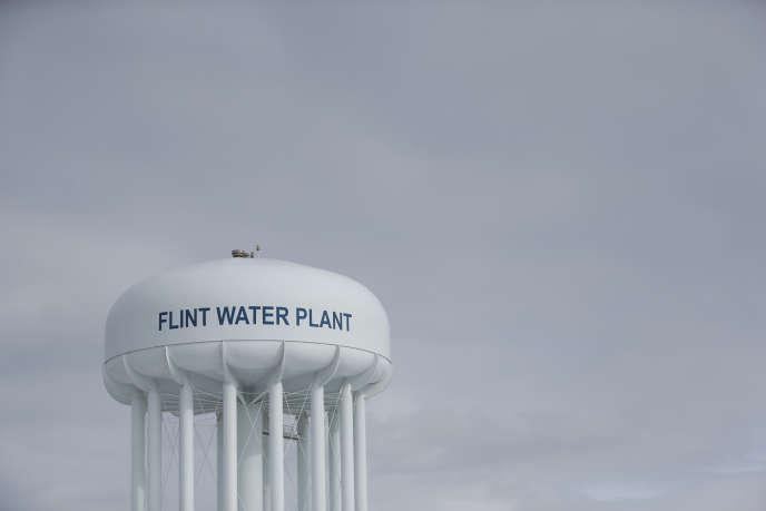 La réserve d'eau de Flint (Michigan), le 26février.