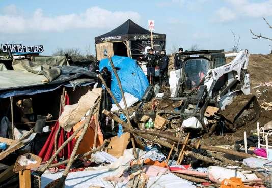 Le démantèlement de zone sud de la «jungle» de Calais s'est achevé le 16 mars.