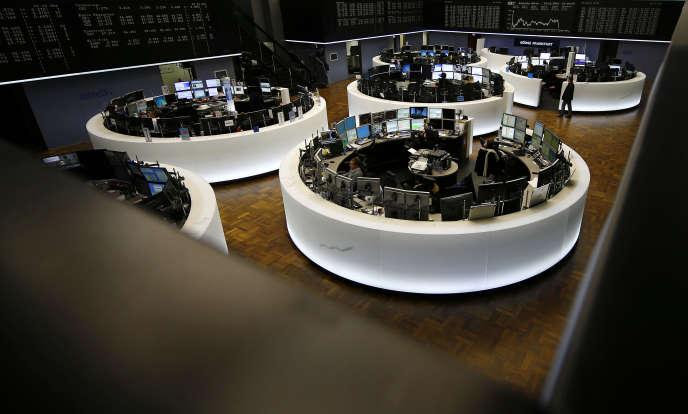 A la Bourse de Francfort, le 23 février. Les actionnaires de Deutsche Börse détiendront 54,4% du géant créé, contre 45,6% pour les actionnaires du LSE