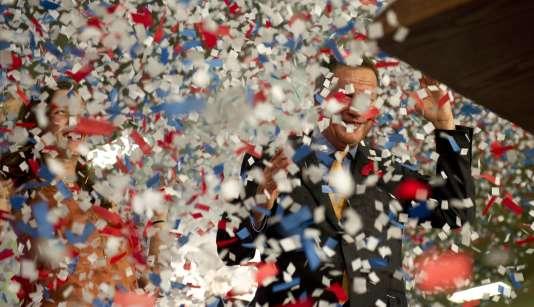 Lors de la soirée électorale du républicain John Kasich, à Berea (Ohio), le 15 mars. L'outsider du camp républicain a remporté la primaire dans l'Ohio, Etat dont il est le gouverneur, sa première victoire.
