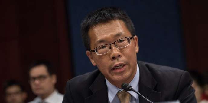 L'avocat Teng Biao au Congrès américain (Washington), le 18 Septembre, 2015, peu avant la visite du président chinois Xi Jinping aux États-Unis.