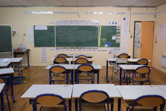 Une classe de l'école Consolat à Marseille, en février 2016.