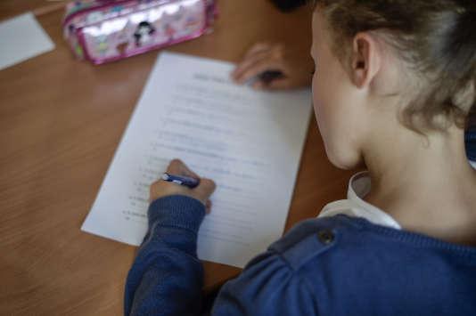 Dans une école primaire parisienne, en septembre 2014.