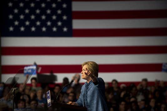 La candidate à l'investiture démocrate Hillary Clinton pendant sa soirée électorale à West Palm Beach, en Floride, le 15 mars.