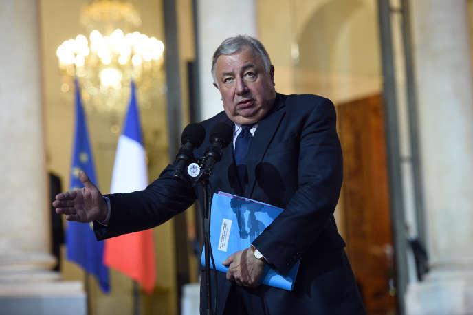Gérard Larcher, président du Sénat, à l'Elysée, le 20 janvier.