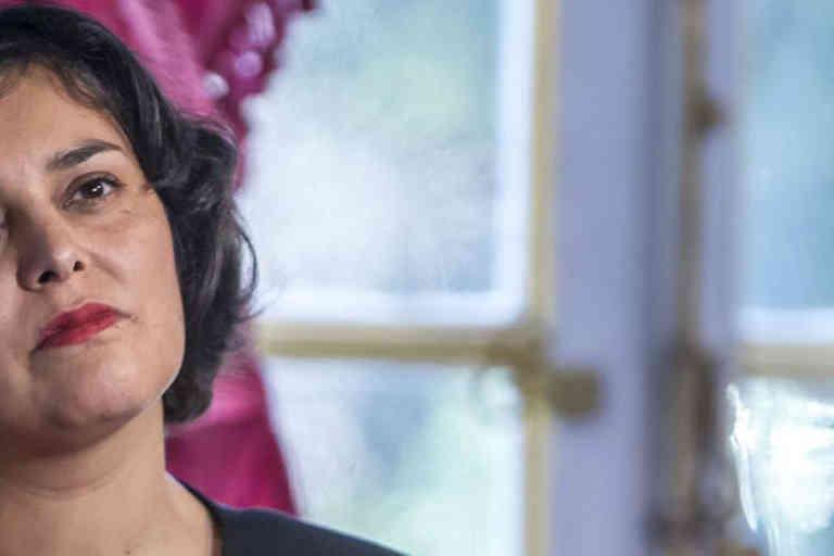 Myriam El Khomri est présente lors de la remise du rapport sur le droit du travail à l'Hotel Matignon à Paris, lundi 25 janvier 2016