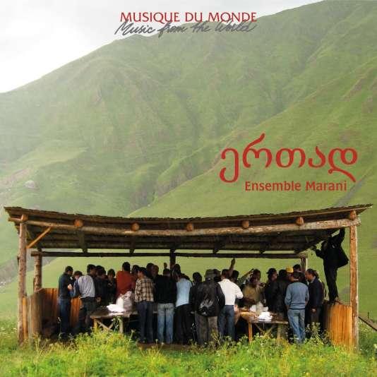 Pochette de l'album «Polyphonies de Géorgie», par l'ensemble Marani.