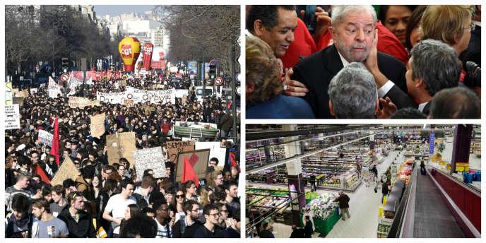 Manifestations, croissance, Brésil: l'essentiel du 17mars à 19heures.