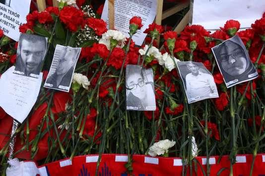 Les visages de victimes de l'attentat à Ankara du 19 février.
