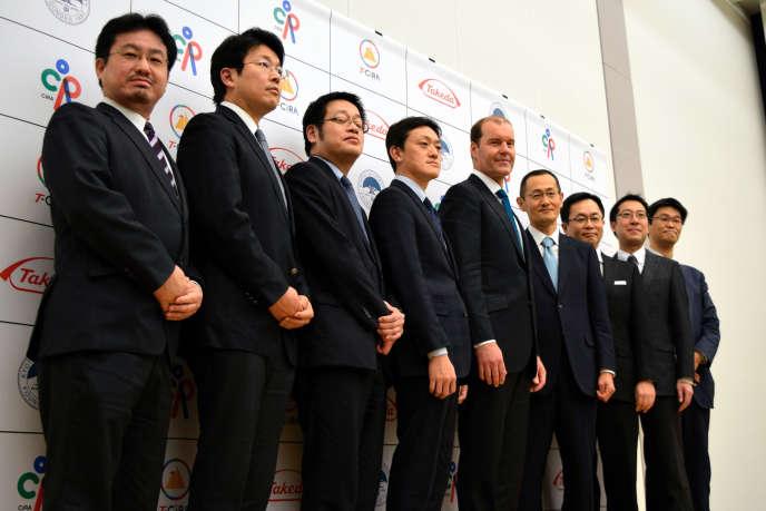 Christophe Weber (au centre) est à la tête du laboratoire pharmaceutique japonais Takeda