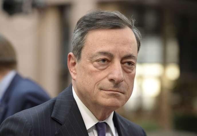 Mario Draghi, le président de la Banque centrale européenne, le 17 mars, à Bruxelles.