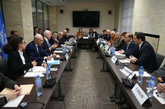 Lors de la reprise des négociations sur la Syrie, le 16 mars, à Vienne.