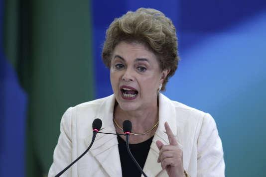 Dilma Rousseff, présidente de la République fédérative du Brésil depuis le 1er janvier 2011.