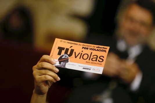 Manifestation de soutien à la loi autorisant l'avortement, à Valparaiso, le 17mars.
