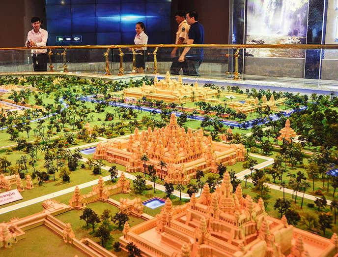 Maquette de l'Angkor Panorama Museum qui a été inauguré le 11 février, à Siem Reap, au Cambodge.