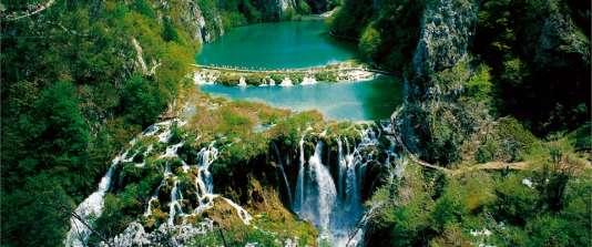 Parc national des lacs de Plitvice, en Croatie.