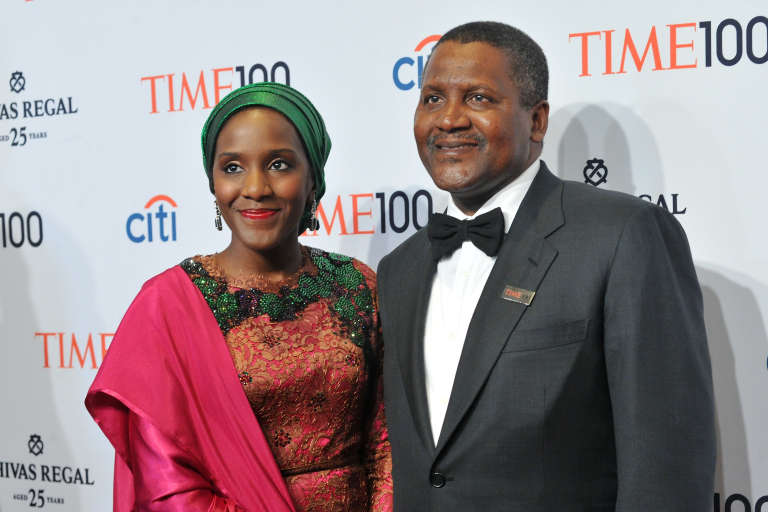 Aliko Dangote et son épouse, Halima, assistent au gala des 100 personnes les plus influentes selon le magazine Time.