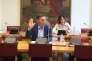Michel Aubier prêtant serment devant la commission d'enquête sénatoriale sur le coût économique de la pollution de l'air, le 16 avril 2015.