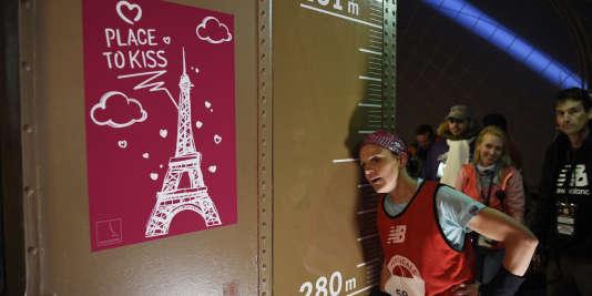 La Française Alexandra Renaud lors de l'édition 2015 de la Verticale de la tour Eiffel.