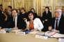 Annick Girardin,  la ministre  de la fonction publique,  lors de sa rencontre avec les syndicats, jeudi 17mars.