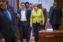 Alexis Tsipras et Angela Merkel au Conseil européen à Bruxelles, en mars 2016.