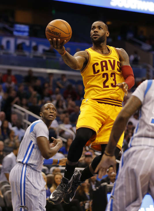 Face aux Magics d'Orlando, le joueur de Cleveland LeBron James a marqué 18 points, vendredi 18 mars.