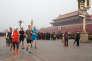 Mark Zuckerberg, fondateur et patron de Facebook, a posé cette photo de lui faisant son footing sur la place de Tiananmen. Un cliché qui lui a attiré les foudres des internautes.