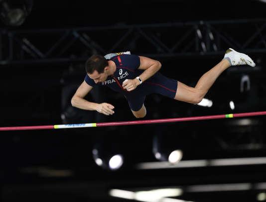 Renaud Lavillenie, lors des championnats du monde d'athlétisme à Portland, le 17 mars.