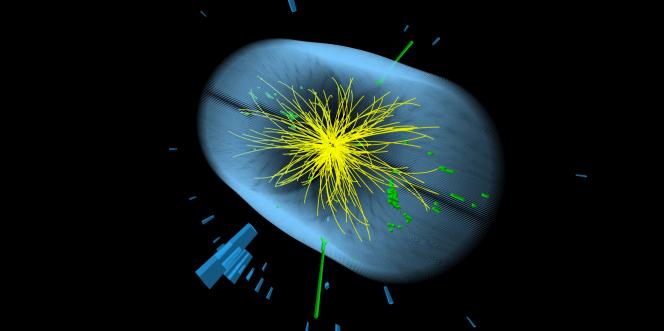 Image d'une collision de particules au cœur de CMS, l'une des expériences du CERN.