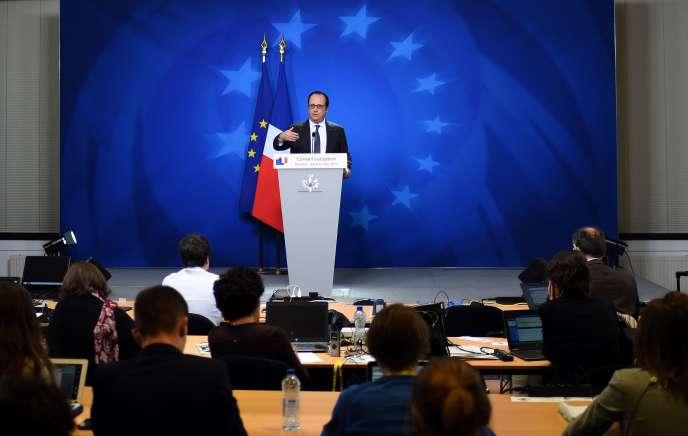 Le président français François Hollande a dit ne pas pouvoir