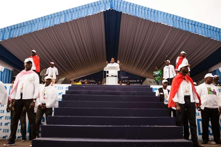 Meeting électoral de Denis Sassou Nguesso. Brazzaville, le 18 mars 2016.