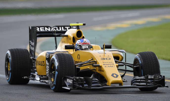 La RS 16 du Britannique Jolyon Palmer, lors de la première séance d'essais, vendredi 18 mars à Melbourne (Australie).