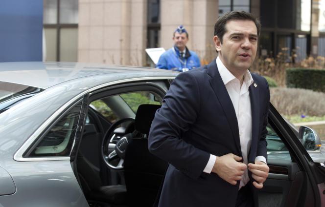 Le premier ministre grec, Alexis Tsipras, en mars à Bruxelles.