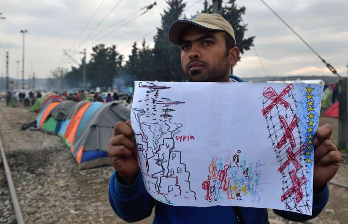 Un migrant du camp d'Idomeni (Grèce), le 18 mars.