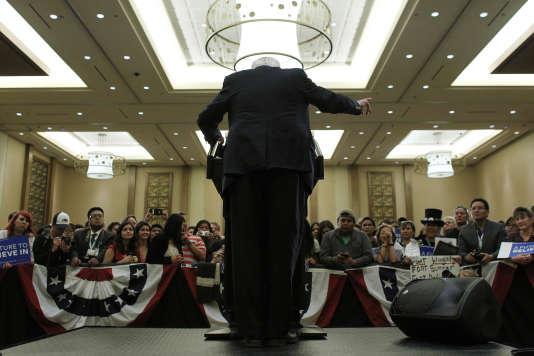 La candidat démocrate Bernie Sanders, lors d'un meeting à Flagstaff (Arizona), le 17 mars.
