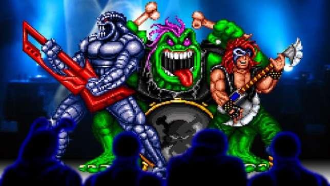 Trois personnages de «Rock'n'Roll Racing», en 1993.