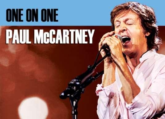 Visuel d'annonce de la tournée One On One de Paul McCartney.
