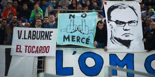 Supporteurs de l'OM face à Rennes.