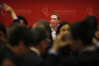 Mark Zuckerberg, le patron de Facebook, à Pékin le 19 mars. Un projet de loi actuellement discuté envisage l'interdiction de tous les sites étrangers en Chine.