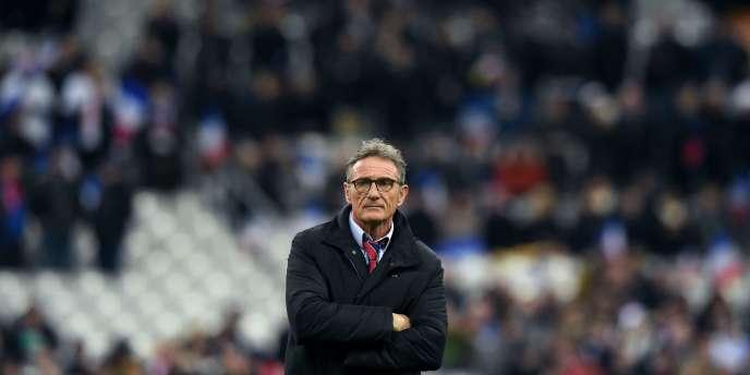 Guy Novès, le 19 mars au Stade de France.