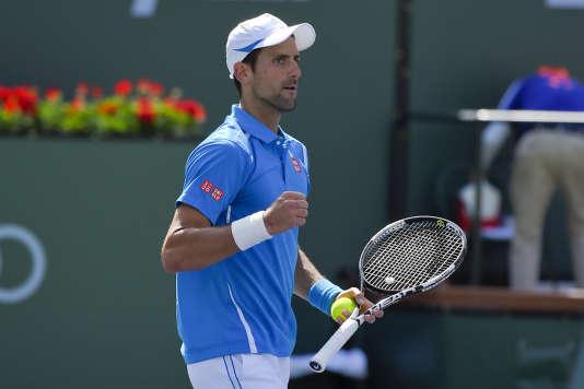 Novak Djokovic a vaincu Milos Raonic en finale du tournoi d'Indian Wells, le 20mars.