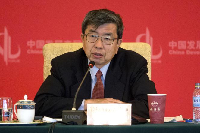 Takehiko Nakao, président de la Banque asiatique de développement, le 20 mars, à Pékin.