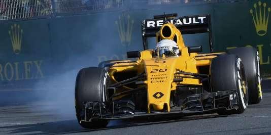La RS 16-02 numéro 20 de Kevin Magnussen, le 20mars lors du Grand Prix d'Australie.