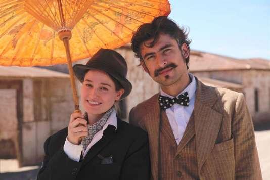 """Marie Gillain et Eduardo Paxeco dans le film belge d'Hubert Toint, """"Mirage d'amour avec fanfare""""."""
