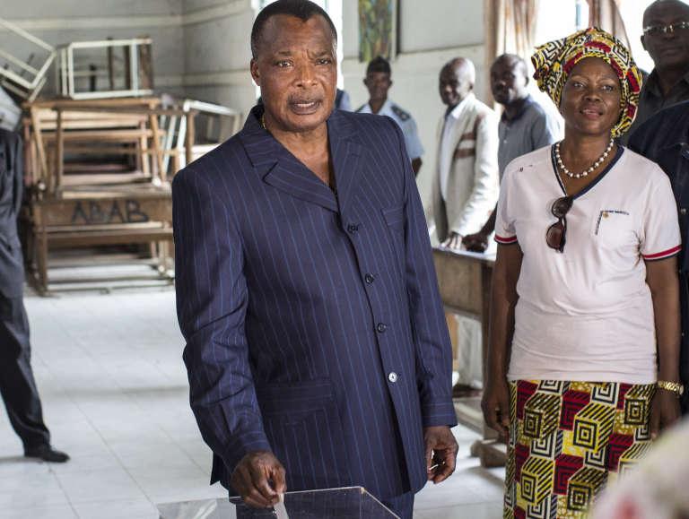 Denis Sassou-Nguesso, le président congolais, à Brazzaville, le 20 mars.